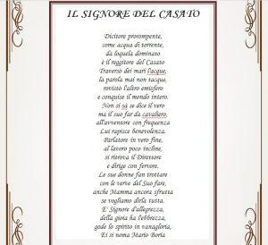 poesia signore del casato